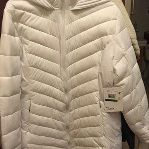 Women's Spyder White Insulated Puffer Jacket Sz Lg